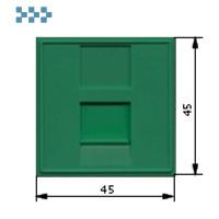 Вставка 45х45, 1 порт, со шторкой, зеленая LANMASTER LAN-SIP-23N-GN