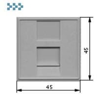 Вставка 45х45, 1 порт, со шторкой, серая LANMASTER LAN-SIP-23N-GY