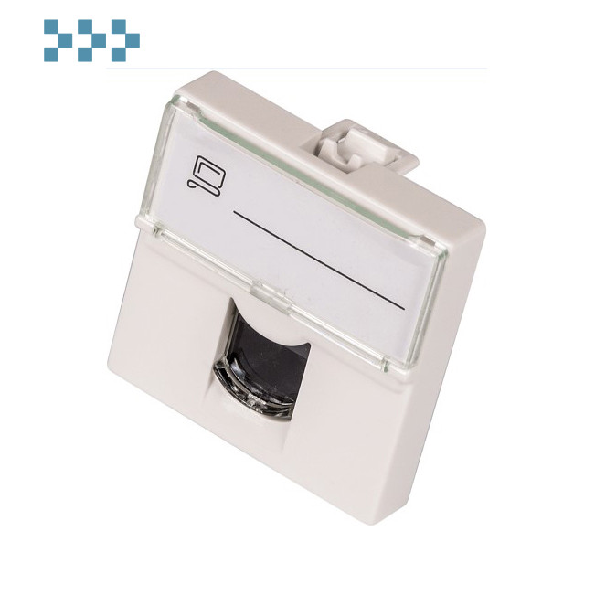 Вставка U6 45×45 стандарта Mosaic LANMASTER LAN-SIP-23U6-WH
