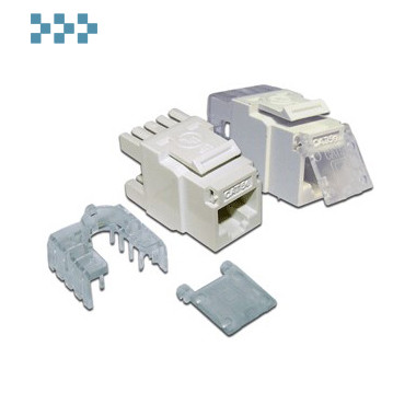 Модуль RJ-45, безинструментальный неэкранированный, типа Keystone LANMASTER LAN-TK45U6/180-WH
