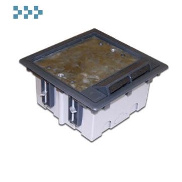 Лючок в пол на 6 модулей 45х45 LANMASTER LAN-WA-FLBP-F45/6