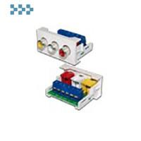 Вставки стандарта Mosaic LANMASTER LAN-WA-LP-3RCA-WH