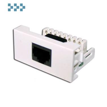 Вставки стандарта Mosaic LANMASTER LAN-WA-LP-45/5E-WH