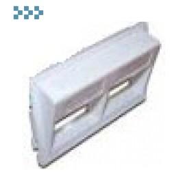 Адаптерные рамки и заглушки для башенок и блоков LANMASTER LAN-WA-P2H/A-WH