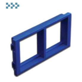 Адаптерные рамки и заглушки для башенок и блоков LANMASTER LAN-WA-P2H-BL