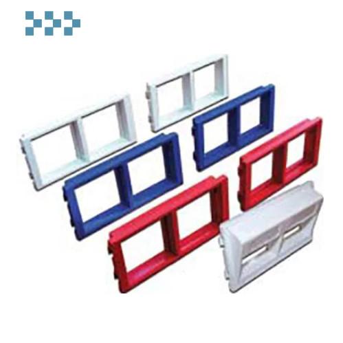 Адаптерные рамки и заглушки для башенок и блоков LANMASTER LAN-WA-P2XX-WH
