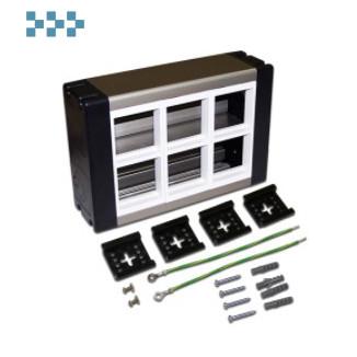 Настенный блок, на 6 модулей 45×45 LANMASTER LAN-WA-WBK2-F45/6