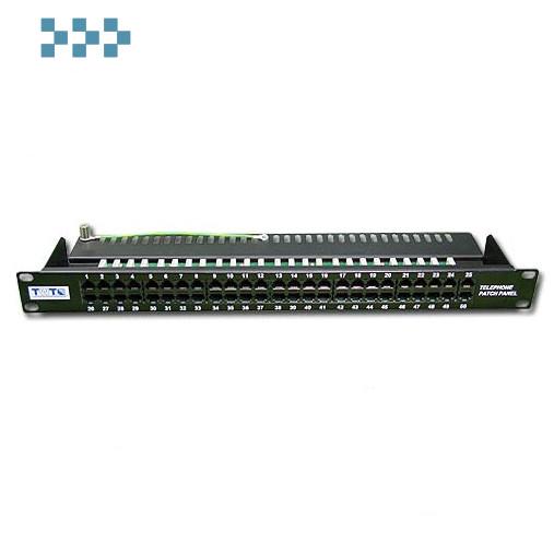 Патч-панель телефонная, 19'',  50 портов RJ-12 TWT-PP50TEL12