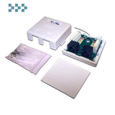 Розетка настенная, экранированная, 1-2 порта TWT-SM2-4545/S6-WH