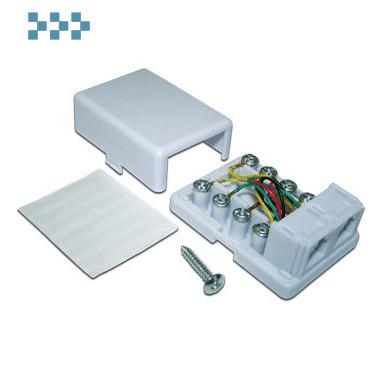 Розетка телефонная винтовая, 1/2 порта RJ-12 TWT-SS1-12-WH