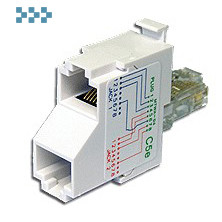 Т-адаптер категории 5е, 2 компьютерных порта TWT-T-E2-E2