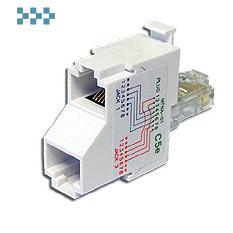 Т-адаптер категории 5е, 2 телефонных порта TWT-T-U2-U2
