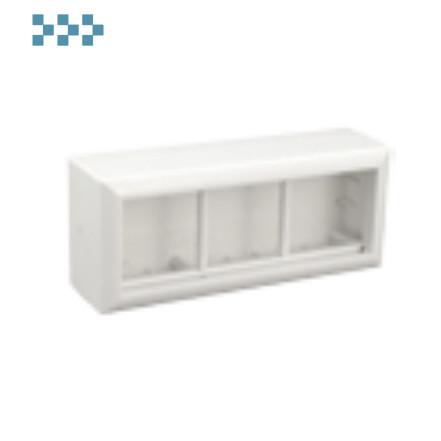 Коробка для открытой проводки на 3 поста Ecoplast 72946