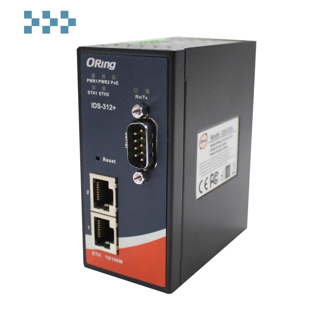 Промышленный защищенный последовательный порт для сервера Ethernet-устройств ORing IDS-312+