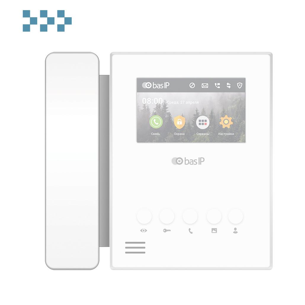 Дополнителная аудиотрубка к домофону BAS-IP SP-AU WHITE