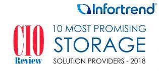 Издание CIO Review Magazine включило Infortrend в «десятку» самых перспективных поставщиков систем хранения данных
