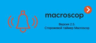 Macrscop версии 2.5 поддерживает сторожевой таймер  для повышения надежности видеосистемы