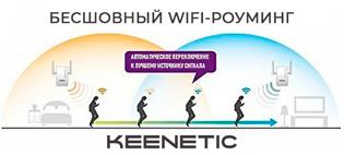Бесшовный роуминг Wi-Fi от Keenetic