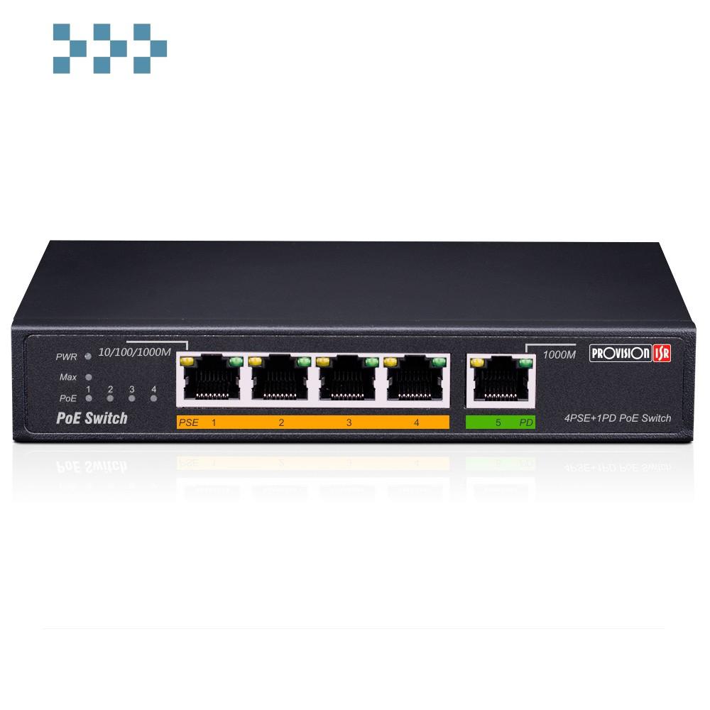 Коммутатор Provision-ISR PoES-0460G+1G(HPD)