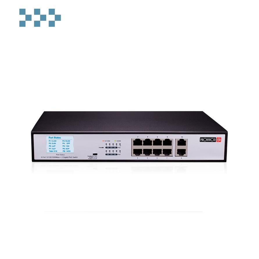Коммутатор Provision-ISR PoES-08(2H)140G+2G