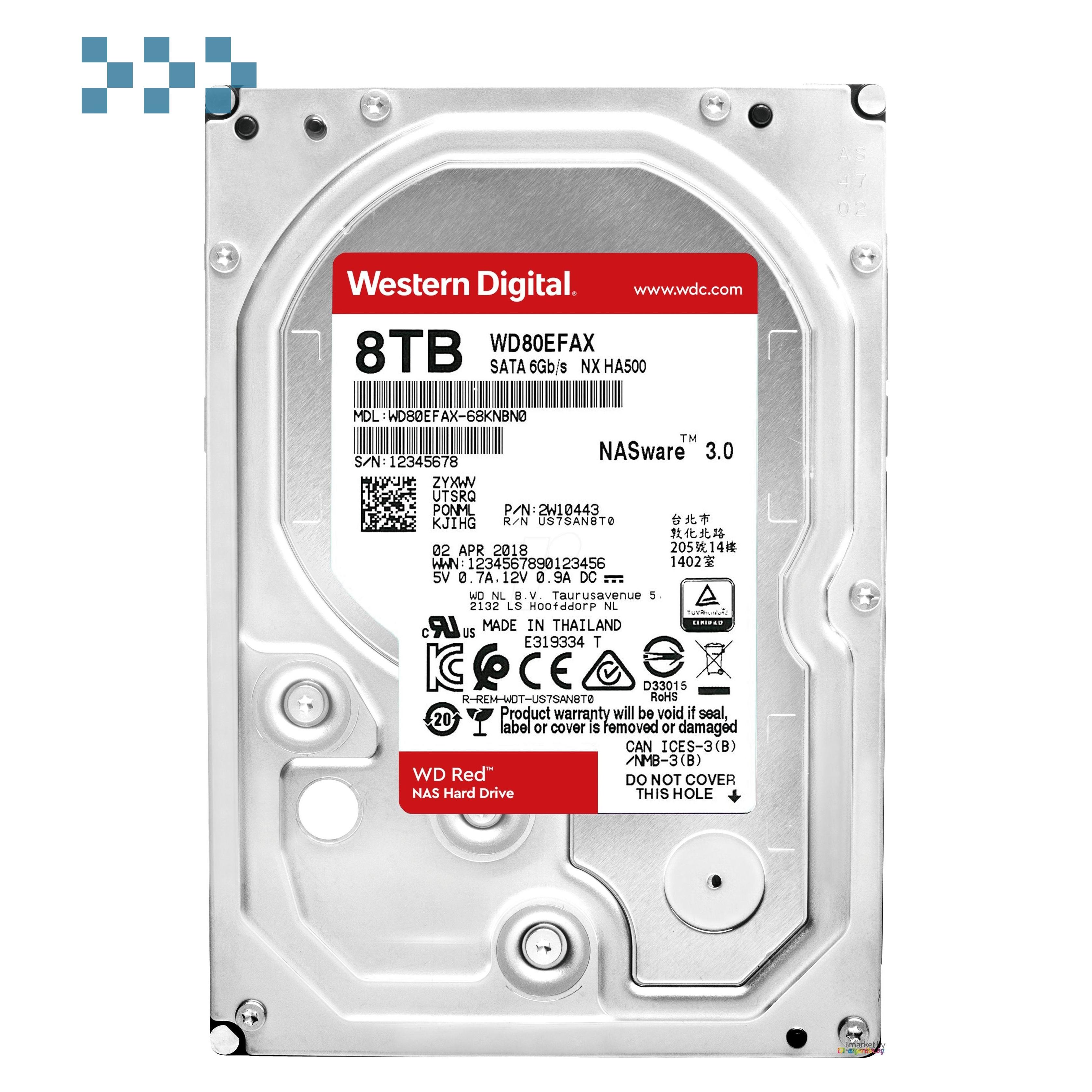 Жесткий диск WD WD80EFAX