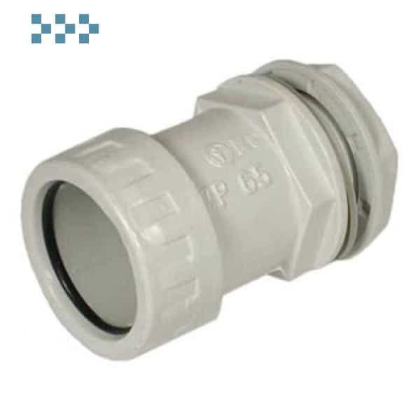 Муфта труба-коробка D25мм Ecoplast 42725