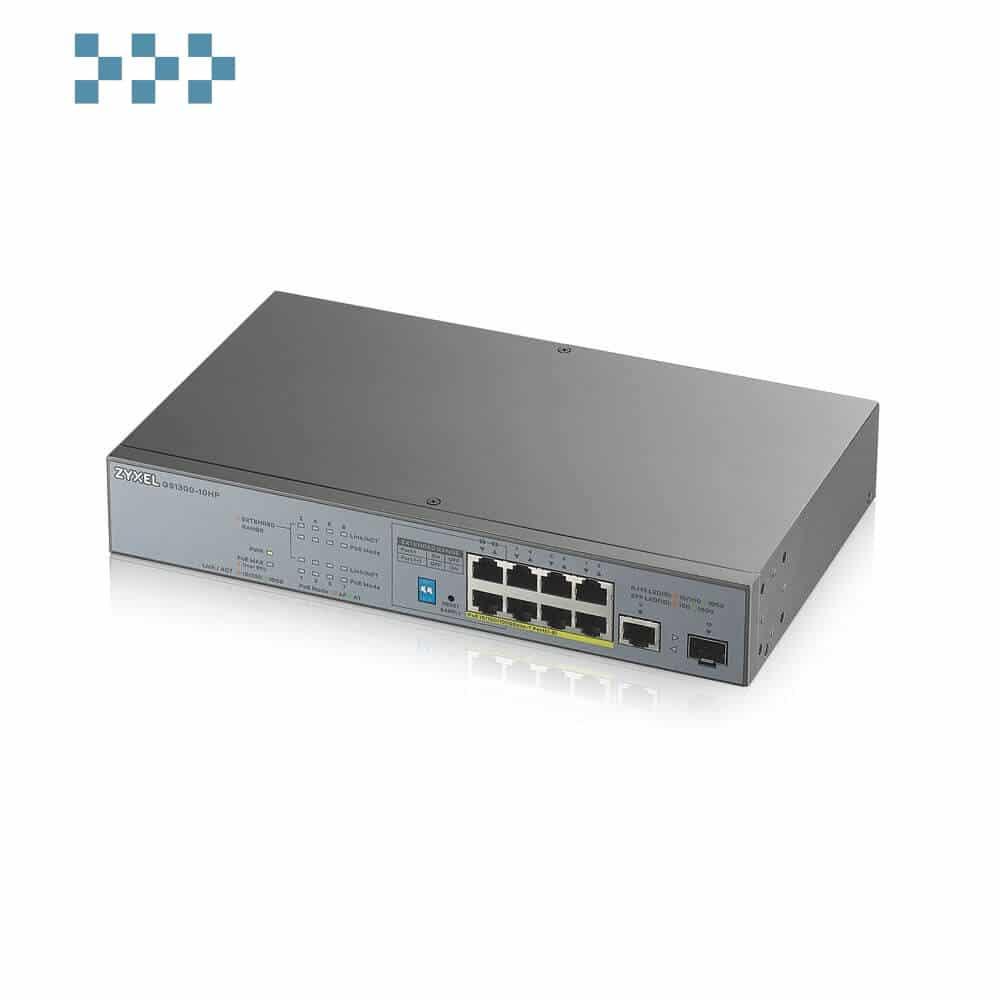 Неуправляемый коммутатор для систем видеонаблюдения ZYXEL GS1300-10HP
