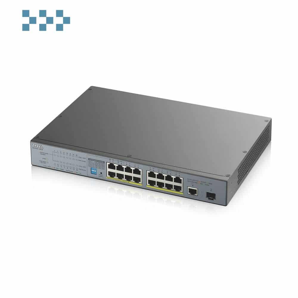 Неуправляемый коммутатор для систем видеонаблюдения ZYXEL GS1300-18HP