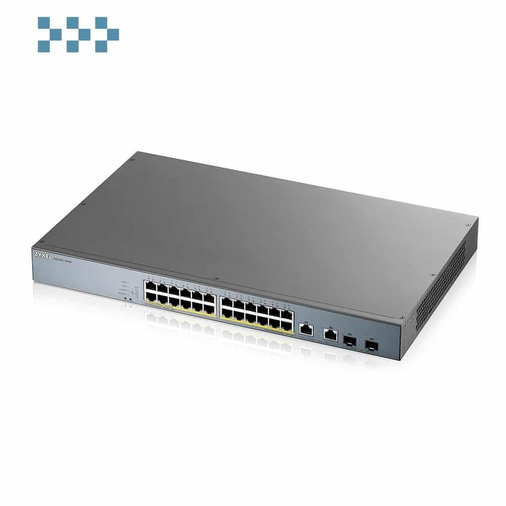 Смарт-управляемый коммутатор для систем видеонаблюдения ZYXEL GS1350-26HP