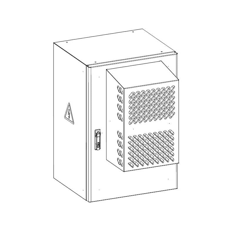 Шкаф уличный всепогодный настенный укомплектованный ЦМО ШТВ-Н-18.6.5-КААА-ТК
