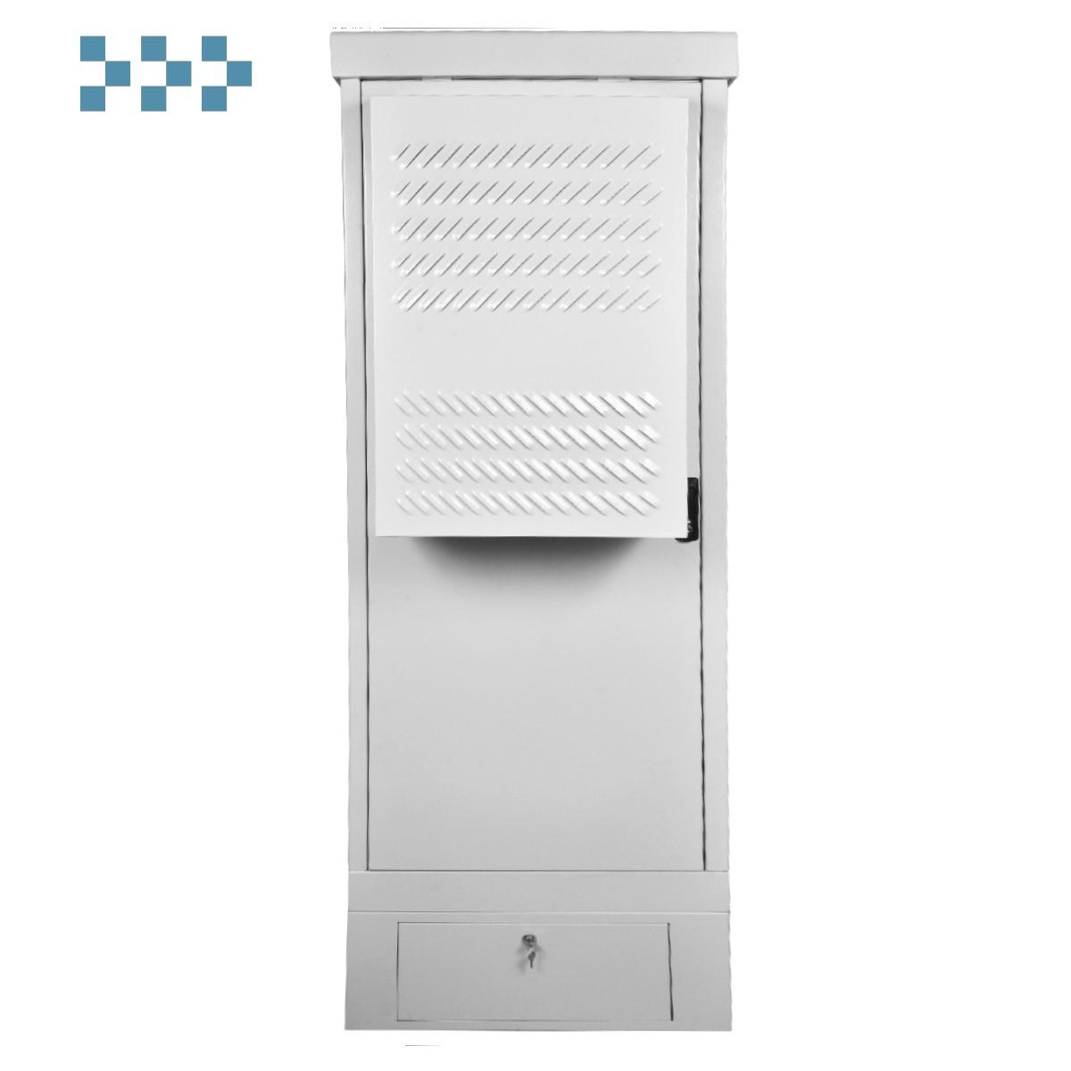 Шкаф уличный всепогодный напольный укомплектованный 18U ЦМО ШТВ-1-18.7.6-К3АА-ТК