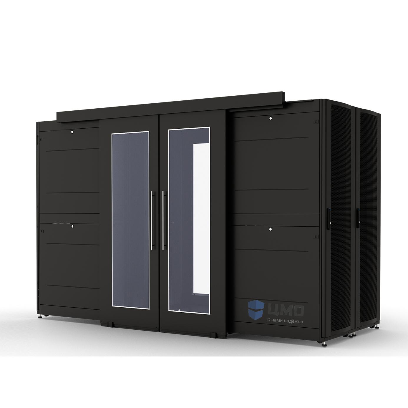 Двери коридора со стеклом сдвижные 42U ЦМО ЦОД-СП-Д-42.1250-9005