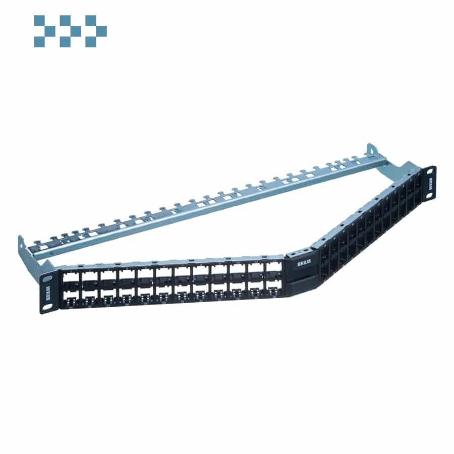 19″ 1U патч-панель HD ELISO angled, 48-Port/u, неэкран. R&M R854757
