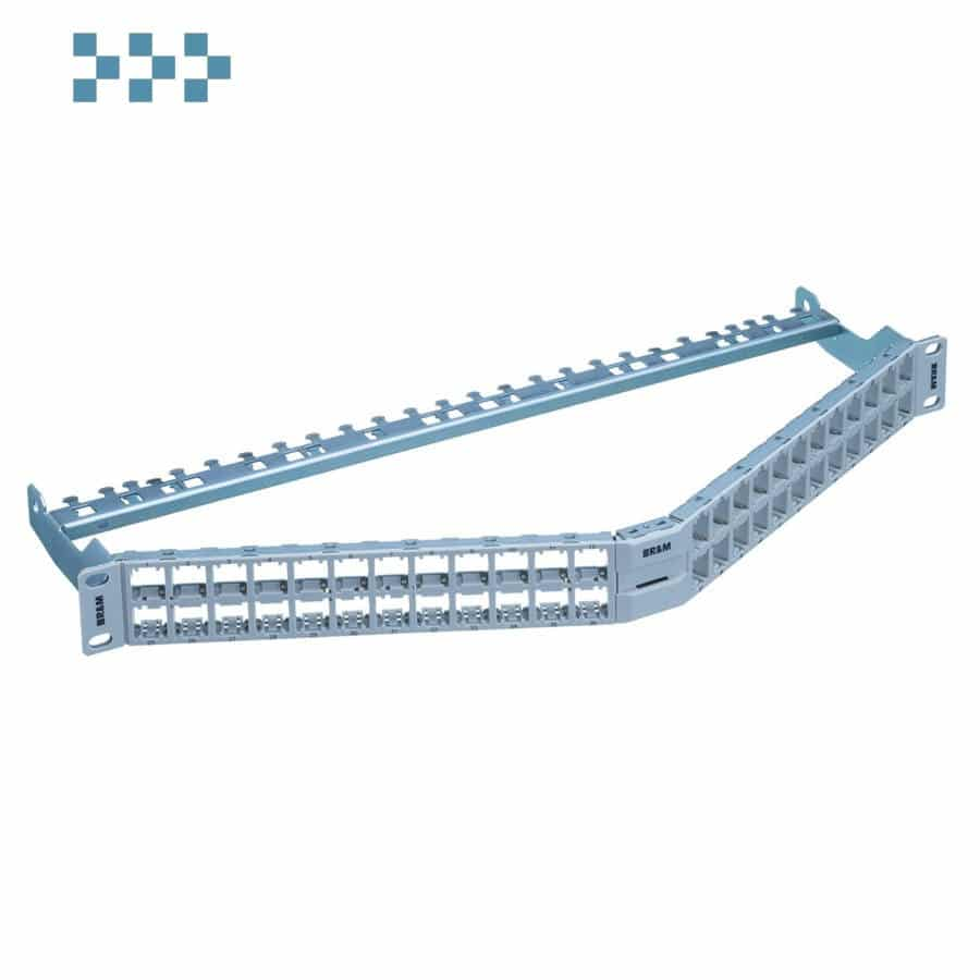 19″ 1U патч-панель HD ELISO angled, 48-Port/u, неэкран. R&M R854759