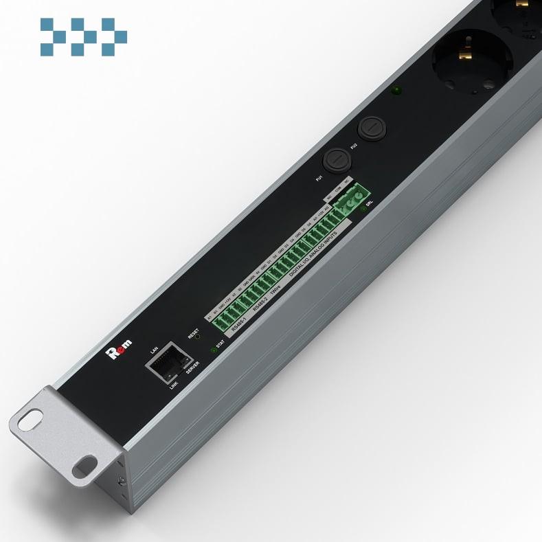 Управляемый блок розеток с мониторингом Rem R-MC1-32-2x2S-440-K