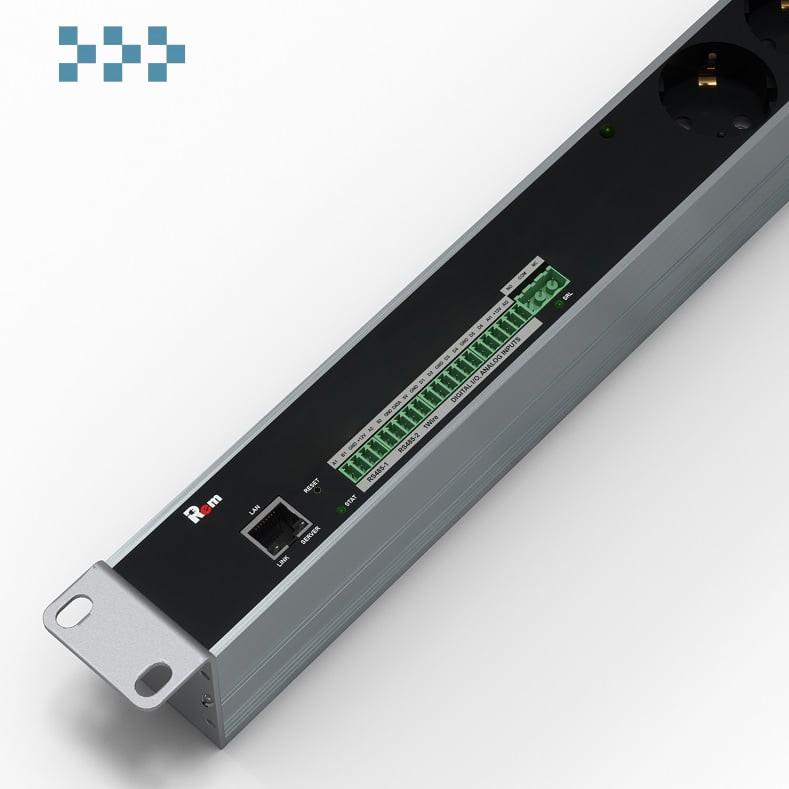 Управляемый вертикальный блок розеток с мониторингом 42-48U Rem R-MC1-32-8x2S-A-1820-K