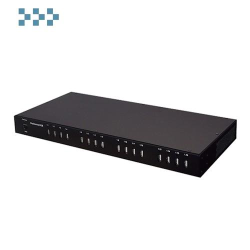 Управляемый USB over IP концентратор с 16 портами USB DistKontrolUSB-16