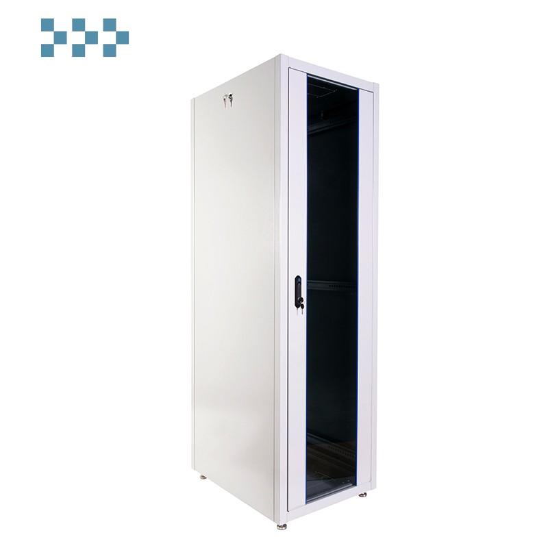 Шкаф телекоммуникационный напольный ЭКОНОМ 48U (600 × 800) дверь стекло, дверь металл ШТК-Э-48.6.8-13АА