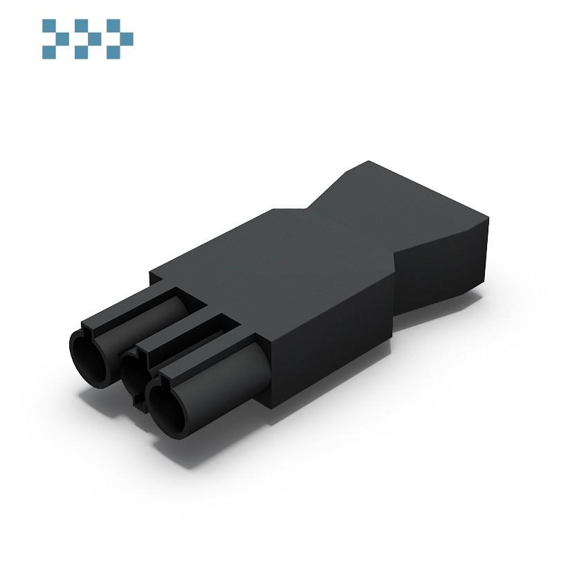 Разъем rapid connector Black  M для кабелей 1,5-2,5 мм2 IB Connect 91111002-2