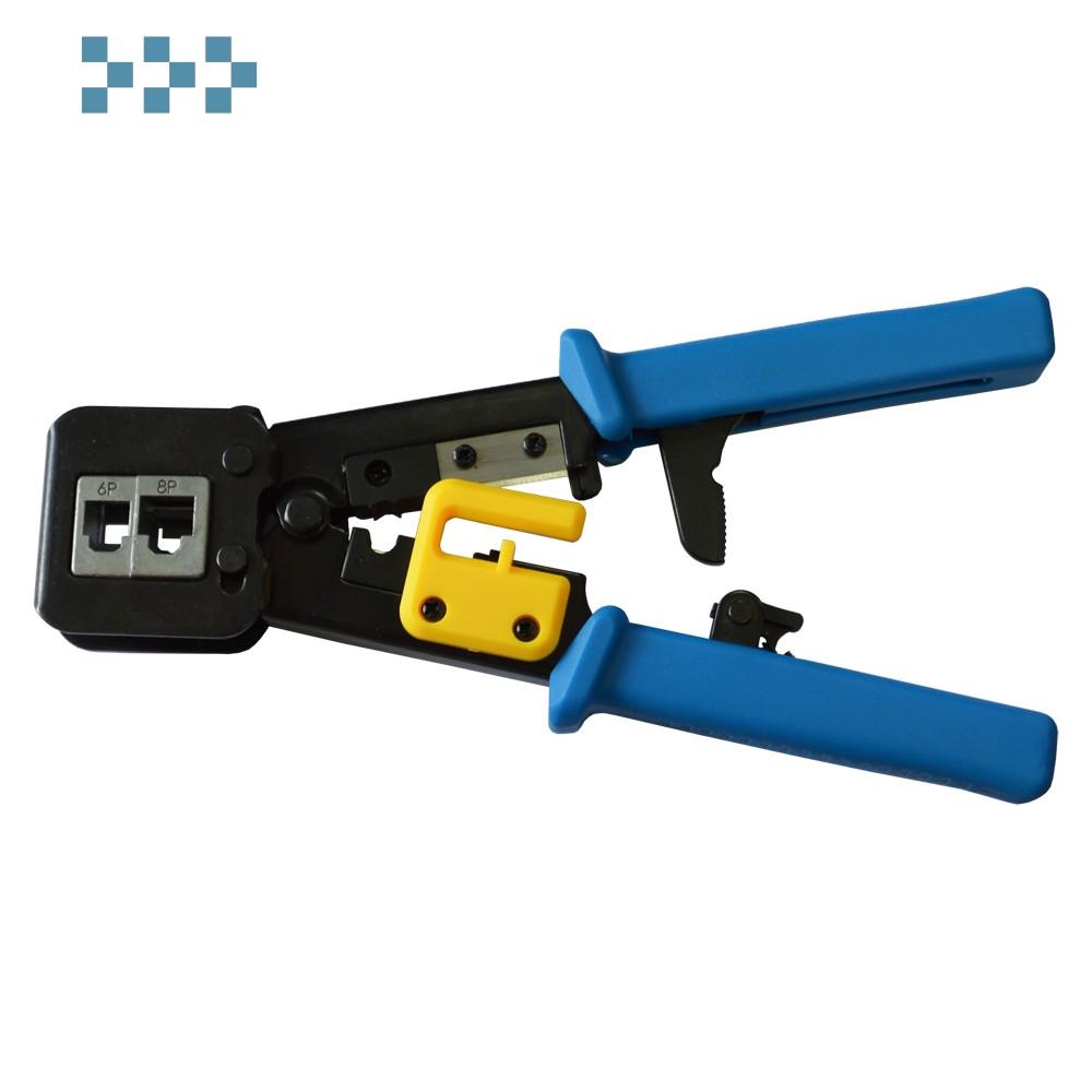 Обжимной инструмент для коннекторов типа EZ, 4P, 6P, 8P LANMASTER LAN-CRI-468R/EZ