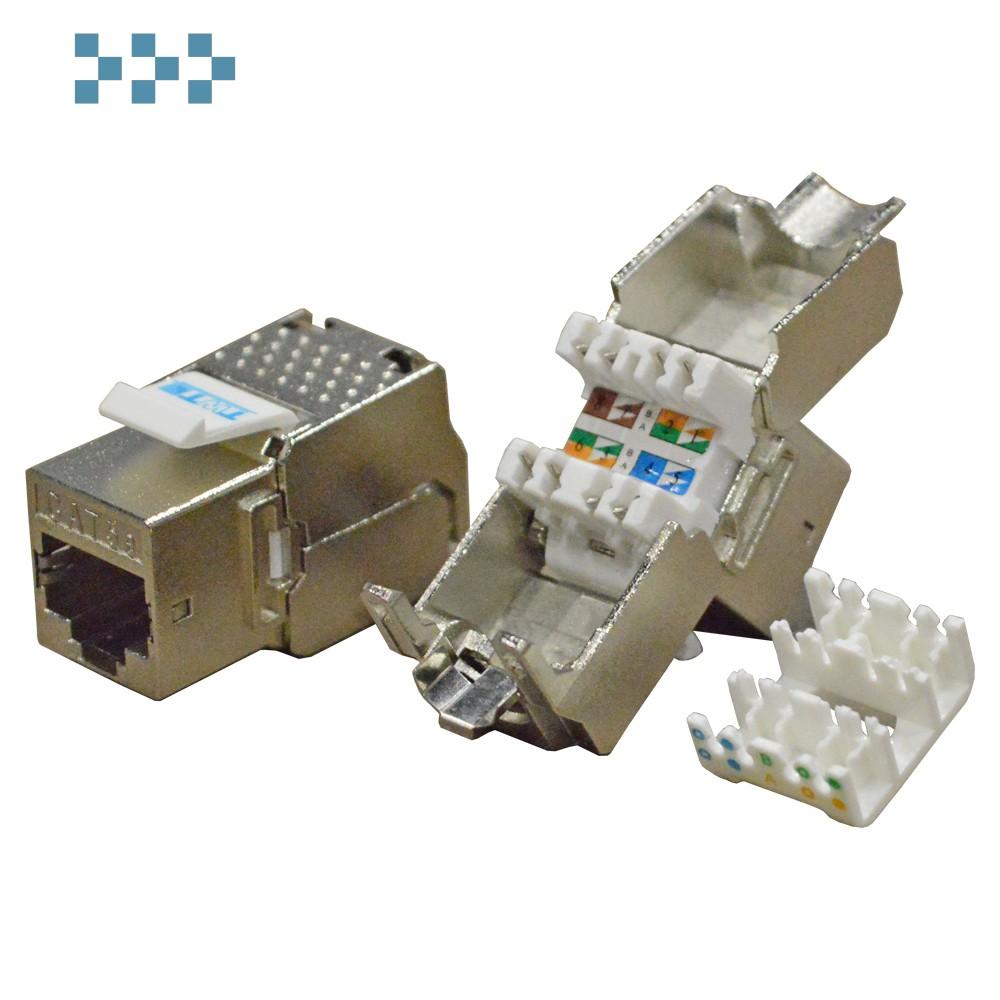 Модуль Keystone RJ45, Cat.5E, STP, 180 градусов TWT-OK45STP180/5E
