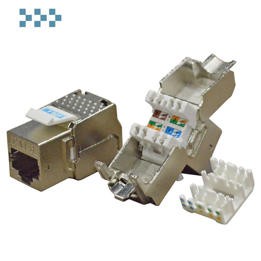 Модуль Keystone RJ45, Cat.6, STP, 180 градусов TWT-OK45STP180/6