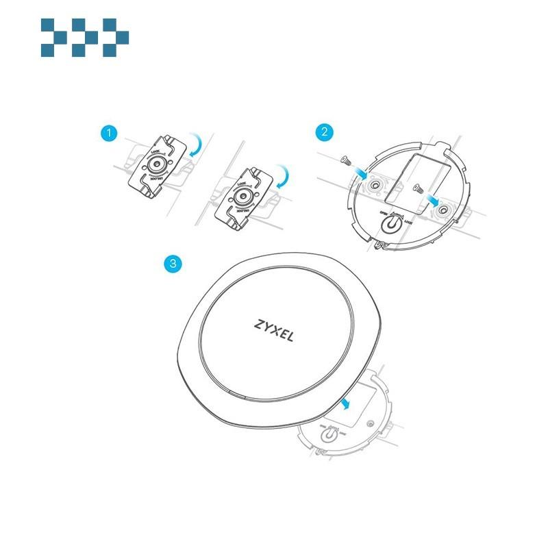 Комплект крепежей на Т-профиль подвесного потолка Zyxel ACCESSORY-ZZ0105F