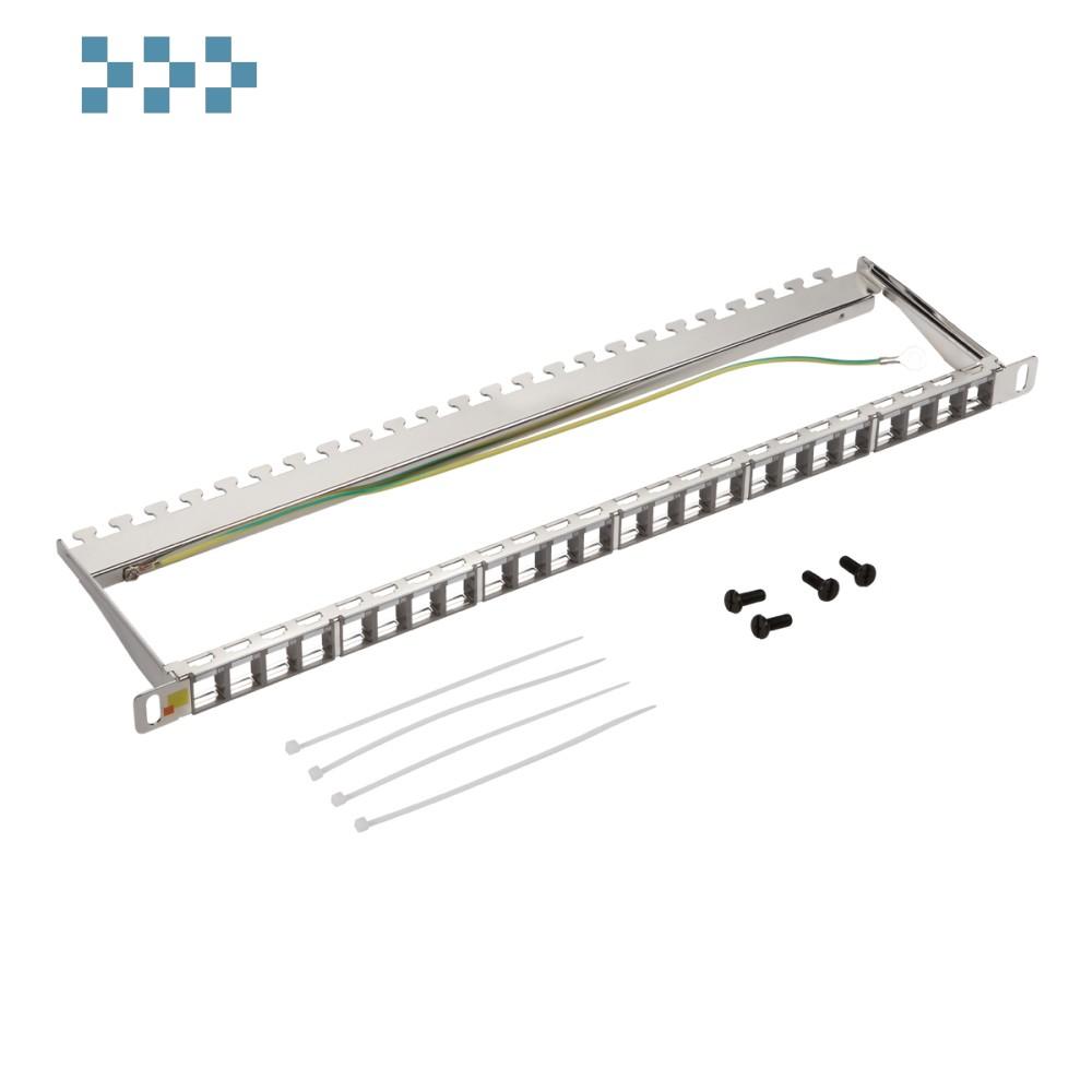 Патч-панель наборная 19″ компактная, экранированная, 24 порта, 0.5U LAN-PPC24OK-STP