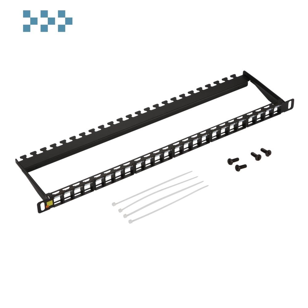Патч-панель наборная 19″ компактная, неэкранированная, 24 порта, 0.5U LAN-PPC24OK-UTP
