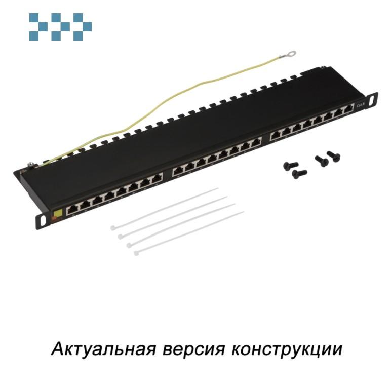 Патч-панель LANMASTER компактная 24 порта, STP, кат. 6, 0.5U LAN-PPC24S6