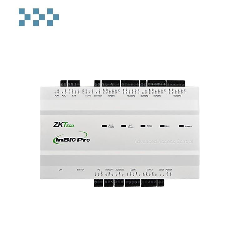 Биометрический сетевой контроллер на 2 двухсторонние двери ZKTeco inBio260 Pro