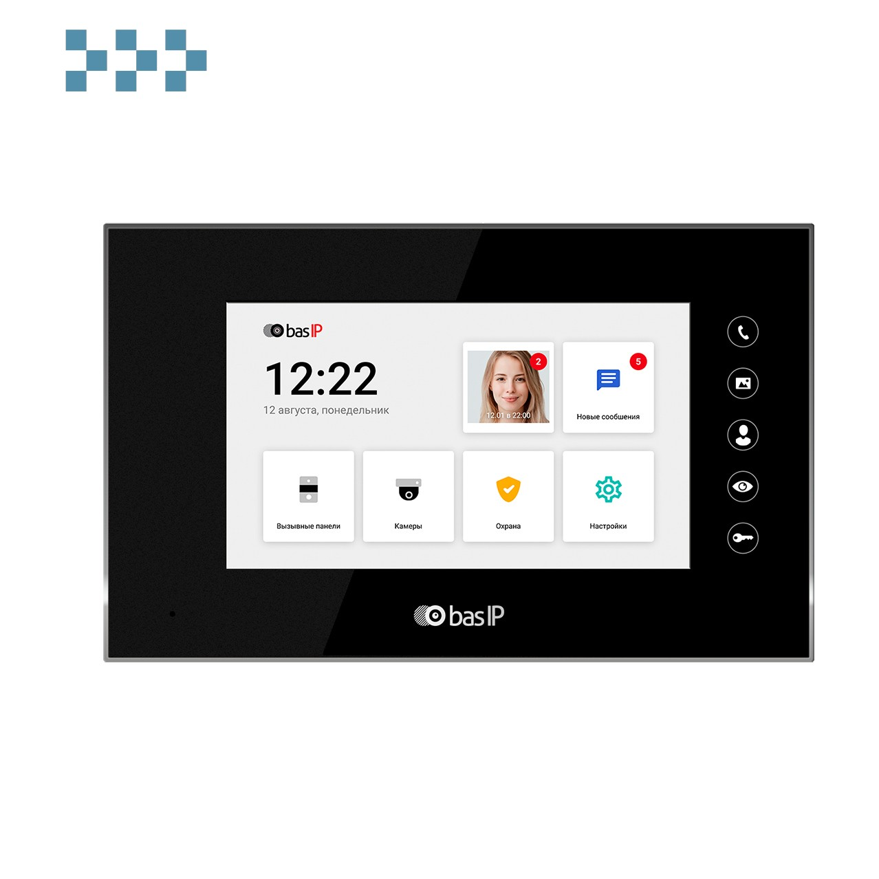 Видеодомофон BAS-IP AQ-07LL BLACK