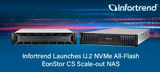 Infortrend представляет горизонтально масштабируемое сетевое хранилище U.2 NVMe